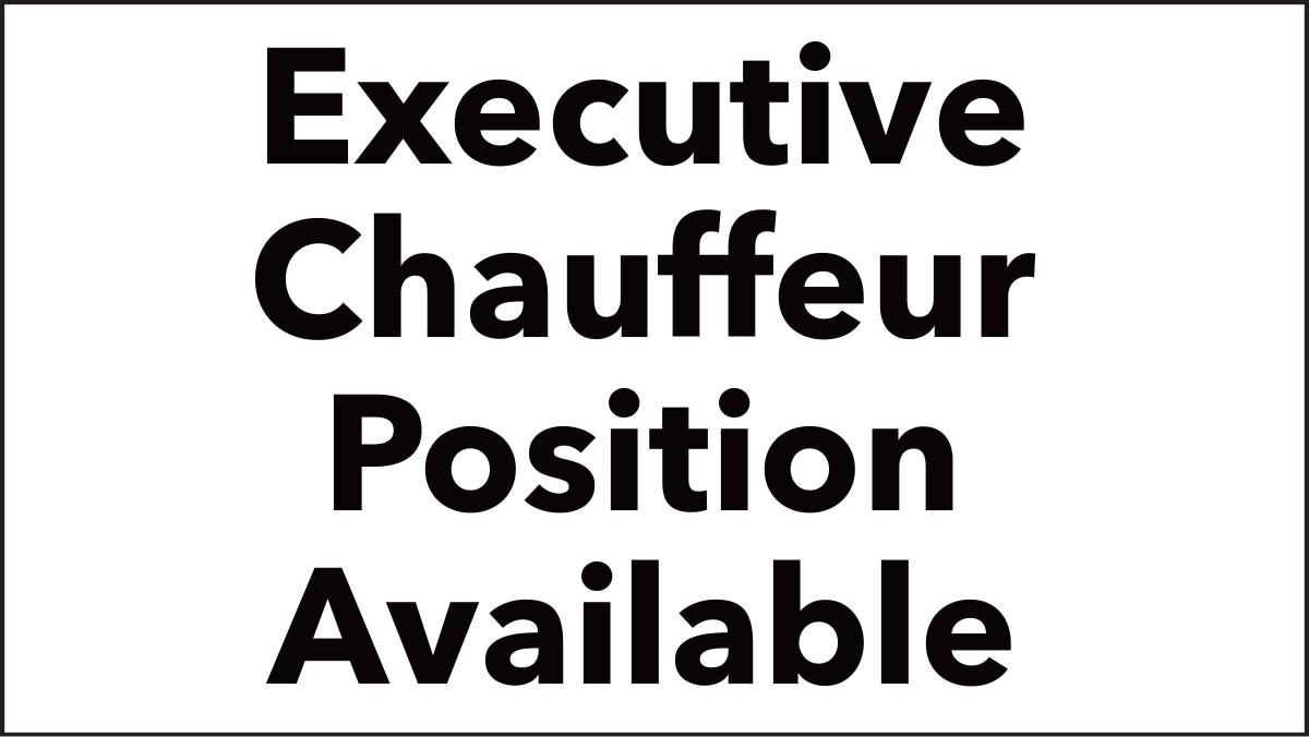 Top media company seeks a chauffeur